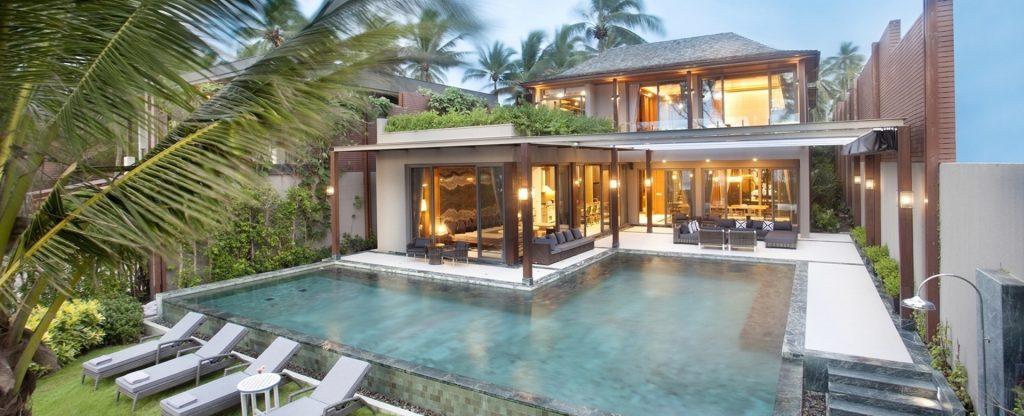 villa de luxe au bord de plage